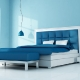 blue bedroom of a holyday villa - rendering